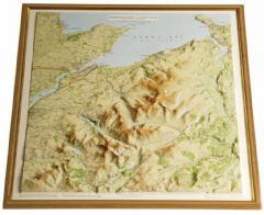 Snowdonia North Raised Relief Map - Framed